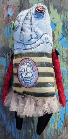 The Hail Fairy Monster handmade art doll Otto by monstermaud, $32.00