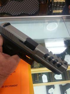 Custom machining and new coating is complete on Glock slide