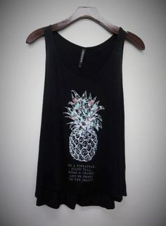 Graphic Tank: Be A Pineapple