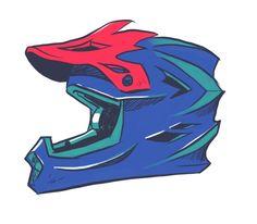 BMX helmet by Sarah Couming