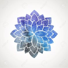 Watercolor Lotus Flower With Space Background. Symbol Of ...