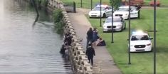 A South Bend police officer made a heroic rescue in the St. Joseph River Friday afternoon.