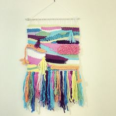 Woven wall hanging by NeonKnotDesigns on Etsy https://www.etsy.com/listing/243869662/woven-wall-hanging