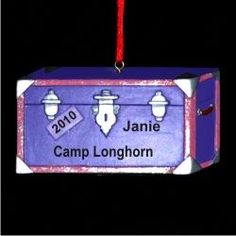 Off to Camp! - Personalized Boy Ornament or Girl Ornament