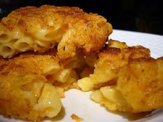 Chicken Fried Macaroni and Cheese -  Tags: cheesy fried goodness, OMG, this ain't no diet food