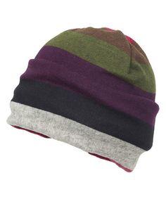 Look at this #zulilyfind! Purple & Gray Stripe Beanie by Magid #zulilyfinds
