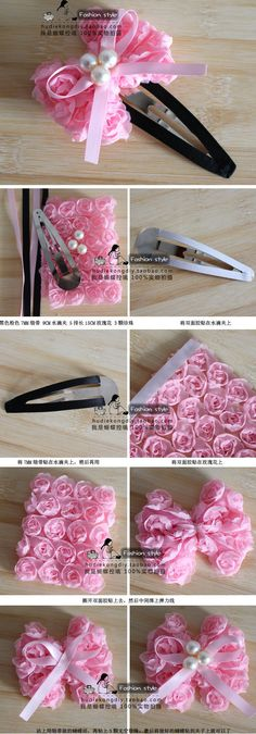pink bow hair pin