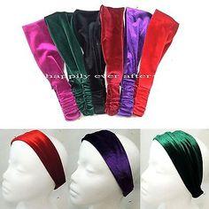 Luxury Velvet Fashion Headband with Elastic- Winter Hair Accessory US SELLER | eBay