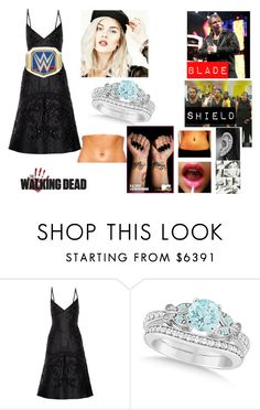 """Leah guest star on THE TALKING DEAD"" by thefuturemrsambrose ❤ liked on Polyvore featuring Valentino, Braun, WWE, Allurez and Forum"
