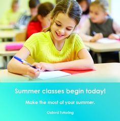 Summer classes begin today! It's not too late to sign up! Call us today. (949) 681-0388. Don't forget summer session 2 begins July 18th. #summertime #summerclasses #ocsummer #ocbusiness #ocevents #oxfordtutoring