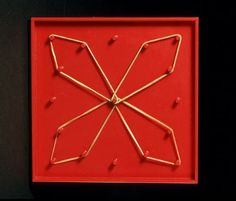 Many students in preschools and elementary schools learn about simple geometry using geoboards. Wooden boards with a regular array of nails pounded into them have been used to teach about shapes, angles, and number patterns from at least 1954, when the Egyptian-born English educator Caleb published an article about the geoboard. By 1970, geoboards had reached the United States and were recommended for teaching a wide range of mathematical topics...