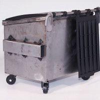Dumpsty Raw Steel Desk Dumpster | Cool Material