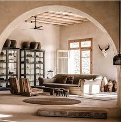 Scorpions Retreat by Michael Schickinger of Lambs&Lions located in Mykonos, Greece. Situated on the picturesque island of Mykonos, Greece… Scorpios Mykonos, Wabi Sabi, Interior Architecture, Interior And Exterior, Interior Styling, Interior Design, Turbulence Deco, Living Spaces, Living Room