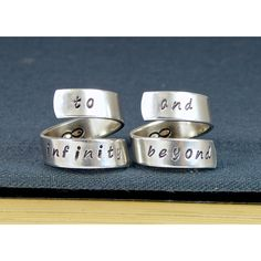 To Infinity and Beyond Rings - Best Friends - Friendship Rings - Wrap... (28 AUD) ❤ liked on Polyvore
