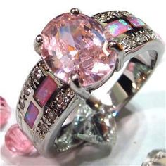 Pink Topaz and Pink Opal ring - GORGEOUS!