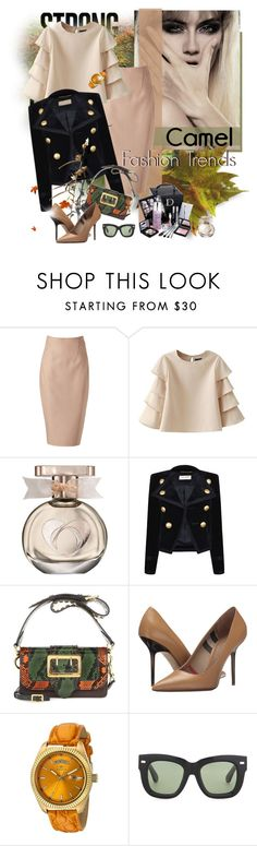 """""""#camelcoat"""" by ksenia-lo ❤ liked on Polyvore featuring Christian Dior, Donna Karan, Yves Saint Laurent, Burberry, Invicta, Acne Studios, autumn, autumnstyle, camelcoat and Autumncolors"""