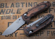 Benchmade Knives: 15031-2 HUNT - North Fork - Stabilized Wood