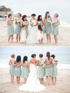Such a serene setting and gorgeous muted color palette at this Florida beach wedding. Photo by Vitalic Photo via JunebugWeddings.com.