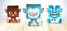 Paper Toy Packs. Billy Sweet Monster. These are great!