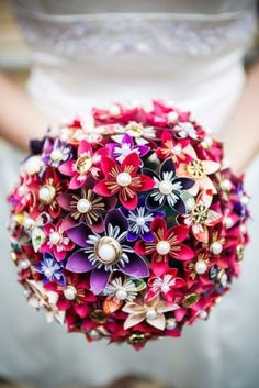 Bouquet de fleurs origami