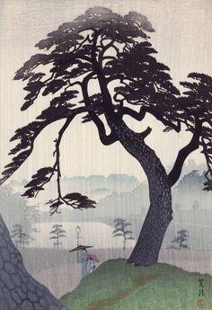 Kinokunizaka in the Rainy Season 紀の國坂 梅雨, summer 1938 - Shirô Kasamatsu