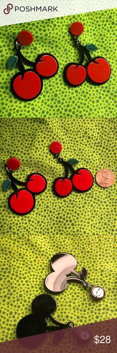 earrings cherries cherry comic fruit outline jewelry spanking