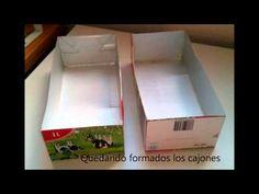 Organizador hecho con cartón y briks de leche - YouTube