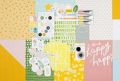Be Happy Scrapbook Kit at Studio Calico