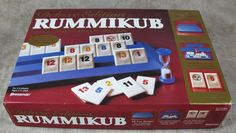 RUMMIKUB Deluxe Edition Tile Board Game w/ Carry Case #Pressman