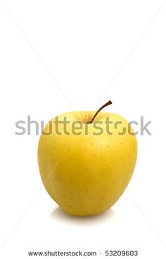 Sold on demand! Stock photo available for sale at Shutterstock: Golden apple over white background.