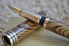Tycoon Fountain Pen Bocote. $55.00, via Etsy.