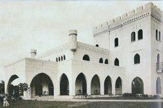 Castillo de Don Alfonso Valdez en Mayaguez. Construido 1930, Demolido en la década del 60 o 70 para construir el Mayagüez Hilton >:(