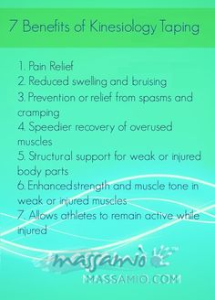 7 Benefits of #Kinesiology Taping