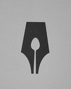 The Guild of Food Writers - negative space logo
