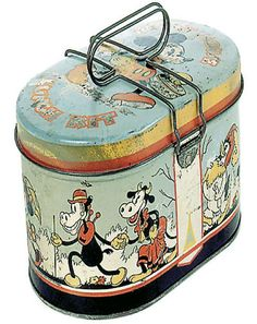 Circa 1930's lunch pail with Clarabelle Cow and Horace Horsecollar