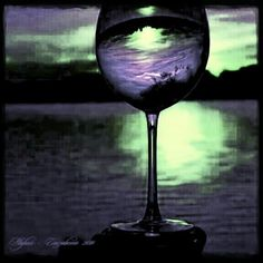 A glass of wine:)