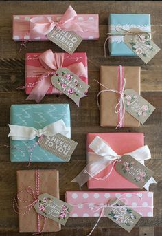 Wrapping Paper, Ribbon, & Tag Ideas !