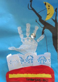 Bedankt voor de inspiratie Juf Lisette! St Nicholas Day, Saint Nicolas, High Five, Baby Crafts, Creative Kids, Diy For Kids, Saints, December, Winter