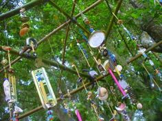 """Making wind chimes with 'junk' - at 'Imagine' ("""",)"""