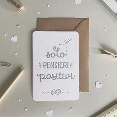 Solo pensieri positivi!!