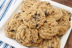 Oatmeal Raisin Cookies that truly are the BEST EVER! Oatmeal, raisins, pudding mix & spices combine in the most delicious, soft & chewy Oatmeal Raisin Cookies.