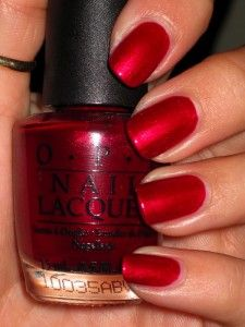 OPI I'm Not Really a Waitress- My long-time FAVORITE nail color during the winter holidays!