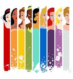 A Princess technicolor Rainbow. LOVE