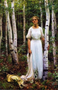 Woodland Solitude (Charles Courtney Curran - 1913)