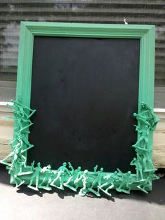 jade army men chalkboard by CheeseCrafty on Etsy Creative Crafts, Fun Crafts, Diy And Crafts, Army Baby, Military Wreath, Army's Birthday, Military Party, Craft Projects For Kids, Craft Ideas