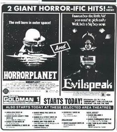 Double bill of Horror Planet and Evilspeak