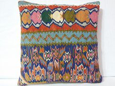 Modern Bohemian Kilim Pillow Cover  Handwoven Anatolian by DECOLIC, $55.00