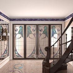 Интерьер холла с элементами ар-нуво. Подробнее: http://www.line-mg.ru/golitsino_-_holl/