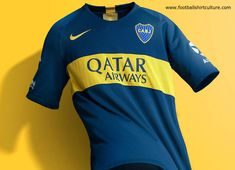 This is the new Boca Juniors home football shirt by Nike. Classic blue and gold colours appear on the home kit, continuing the memorable design that identifies 'xeneizes' all over the world. Nike Football, Football Shirts, Cricket Logo Design, Sports Uniforms, Nike Gold, Soccer Kits, Mens Tops, T Shirt, Countries