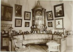 alix's drawing room & the case she kept her faberge eggs in 1913